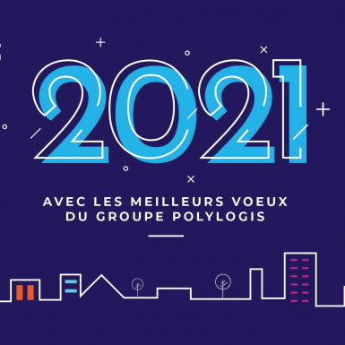 Carte voeux 2021 Scalis Groupe Polylogis